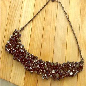 Talbots, crystal bib necklace